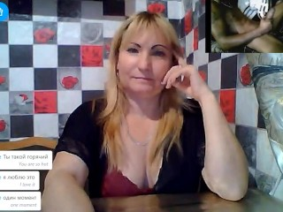 Omegle Horny Ukrainian Milf Strips for a Big Black Cock