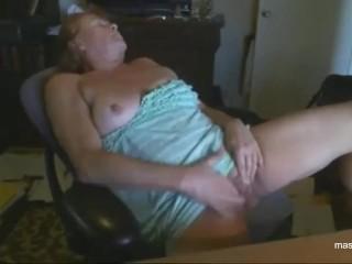 granny Paula masturbates for student