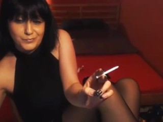 Chainsmoker Fetish Mistress Cam Model in High Heels