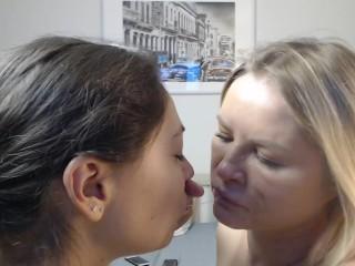Lesbian spitting  5