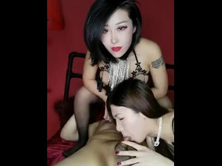 Chinese Sluts Duo 夜翼S和骚猫M  Hot Endurance Test Live Sex 3