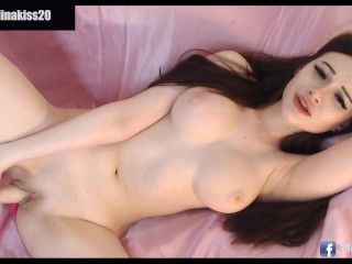 perfect european girl masturbate her wet pink pussy very hot