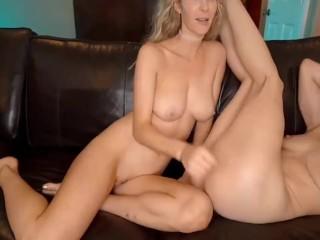 Hot Wife and her lesbo friend Keisha Enjoys Threesome sex