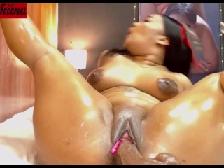 BLASIAN WEBCAM GIRL WITH HUGE ASS & DILDO RIDING