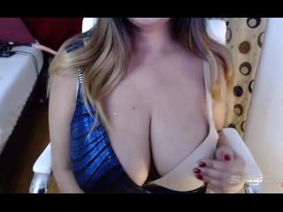 Desi indian bbw mirchi bhabhi playing with her boobs on webcam