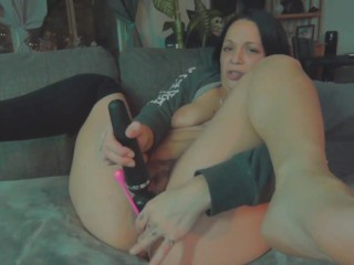 Beautiful Squirt while Spreading Pussy & Anal Toy on Webcam