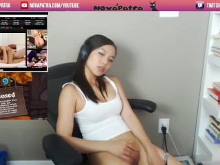 cute Nova Patra masturbating on twitch with orgasm