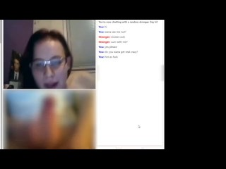OMEGLE #1 Busty Teen Almost Caught By Mom