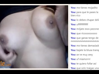 [Omegle] tits tease in black dress (ass in private vids)