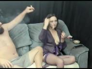 Smoking with the man