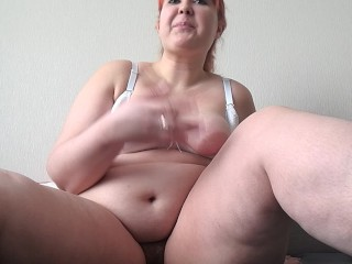 webcam masturbation, beautiful bbw with hairy pussy