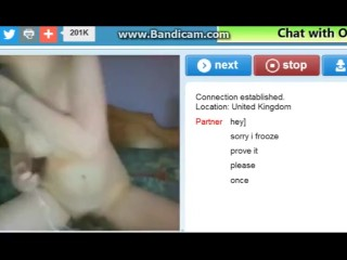 Horny girl plays a little on omegle